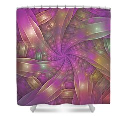Ribbons Shower Curtain by Sandy Keeton