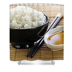 Rice Meal Shower Curtain by Elena Elisseeva