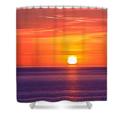 Rich Sunset Shower Curtain