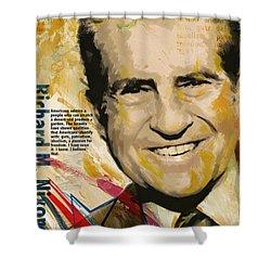 Richard Nixon Shower Curtain by Corporate Art Task Force