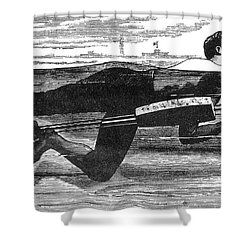 Richardsons Swimming Device 1880 Shower Curtain by Science Source