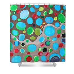 Riches Of People On Earth  Shower Curtain by Lorna Maza