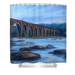 Richmond Train Trestle Shower Curtain