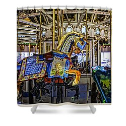 Ride A Painted Pony - Coney Island 2013 - Brooklyn - New York Shower Curtain