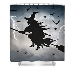 Ride Like Lighting Shower Curtain by Brian Wallace
