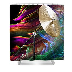 Ride Or Suspended Cymbal In Color 3241.02 Shower Curtain