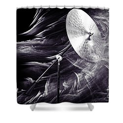 Ride Or Suspended Cymbal In Sepia 3241.01 Shower Curtain