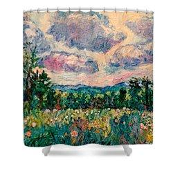 Ridge Light Shower Curtain by Kendall Kessler