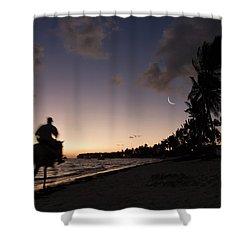 Riding On The Beach Shower Curtain by Adam Romanowicz