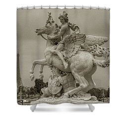 Riding Pegasis Shower Curtain