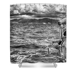 Shower Curtain featuring the photograph Riding The Crest Of The Wave by Howard Salmon