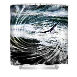 Riding The Wind Shower Curtain by Nick Kloepping