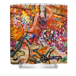Riding Through Life Shower Curtain by Michael Cinnamond