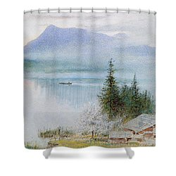 Righi Shower Curtain by Albert Goodwin