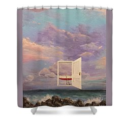Right Where It's Always Been Shower Curtain