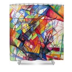 Righteous Step 4  Shower Curtain by David Baruch Wolk