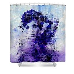 Rihanna 2 Shower Curtain by Bekim Art