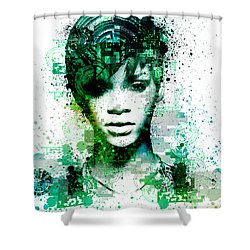 Rihanna 5 Shower Curtain