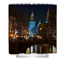 Rijksmuseum At Night Shower Curtain by Jonah  Anderson