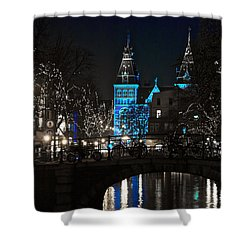 Rijksmuseum In Blue Shower Curtain by Jonah  Anderson