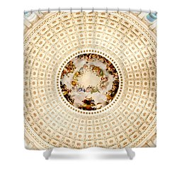 Ring Around The Capitol Shower Curtain