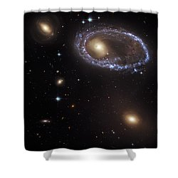 Ring Galaxy Shower Curtain by Jennifer Rondinelli Reilly - Fine Art Photography