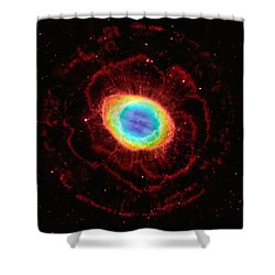 Ring Nebula's True Shape Shower Curtain