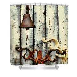 Ring The Bell Shower Curtain by Janine Riley