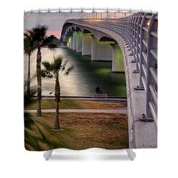 Ringling Causeway Bridge Overlook Shower Curtain