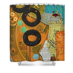 Rings Shower Curtain by Corporate Art Task Force