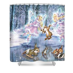 Rink In The Forest Shower Curtain