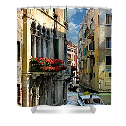Shower Curtain featuring the photograph Rio Menuo O De La Verona. Venice by Jennie Breeze