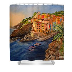Riomaggiore Amore Shower Curtain