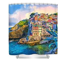 Riomaggiore Morning - Cinque Terre Shower Curtain
