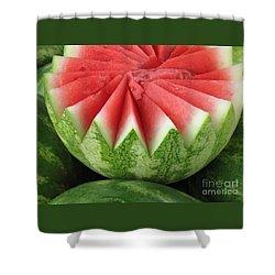 Ripe Watermelon Shower Curtain by Ann Horn