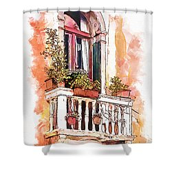 Shower Curtain featuring the painting Riposo by Greg Collins