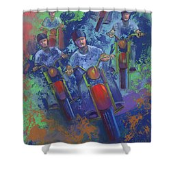 Rippin It Up Shower Curtain by Peter Bonk