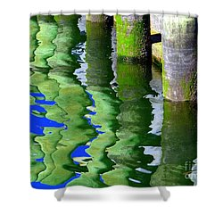 Ripple Reflections Shower Curtain by Ed Weidman