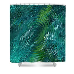 Ripple Sea Glass  Shower Curtain by Christine Fournier