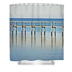 Rippled Reflections Shower Curtain by Judy Hall-Folde