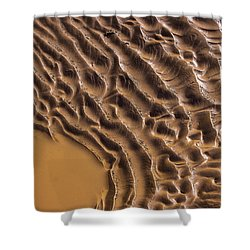 Ripples And Fins Shower Curtain