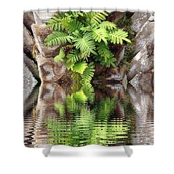Ripples And Reflection Shower Curtain