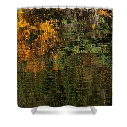 Ripples And Reflections Shower Curtain by Vivian Christopher