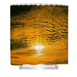 Ripples In The Sky Shower Curtain by Nick Kirby