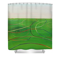 Ripples Of Life 1 Shower Curtain by Tim Mullaney