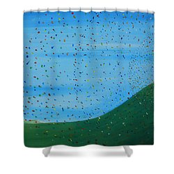 Ripples Of Life 2 Shower Curtain by Tim Mullaney