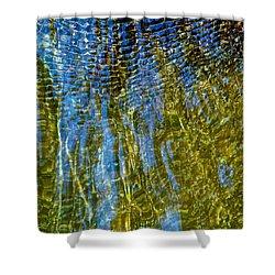Ripples On The Rocks Shower Curtain by Rita Mueller