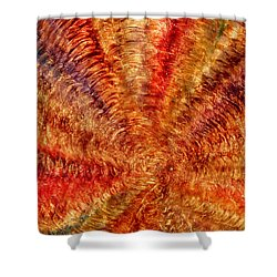Shower Curtain featuring the mixed media Rippling by Sami Tiainen