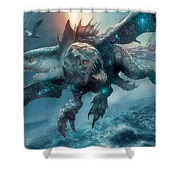Riptide Chimera Shower Curtain