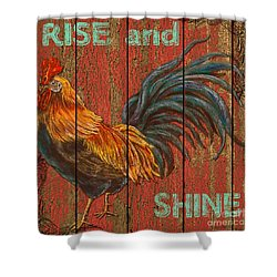 Rise And Shine Shower Curtain by Jean PLout